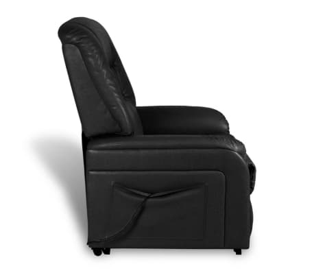 vidaXL Stand-up Armchair Artificial Leather Black[7/10]