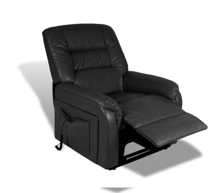 vidaXL Stand-up Armchair Artificial Leather Black[10/10]