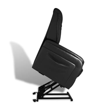 vidaXL Stand-up Armchair Artificial Leather Black[4/10]