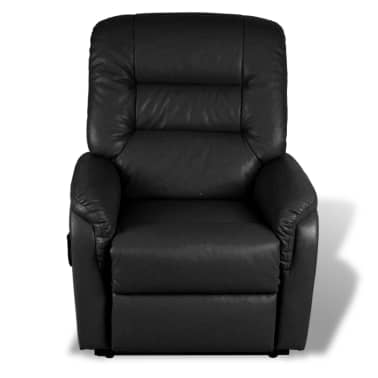 vidaXL Stand-up Armchair Artificial Leather Black[5/10]