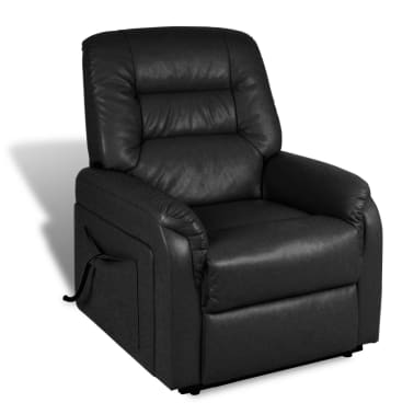 vidaXL Stand-up Armchair Artificial Leather Black[6/10]
