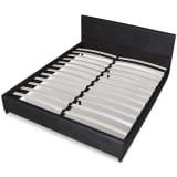 vidaXL Bed Frame 4FT6 Double/135x190 cm Artificial Leather Black