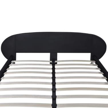 vidaXL Bed Frame 4FT6 Double/135x190 cm Artificial Leather Black[5/5]