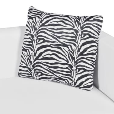 vidaXL Sofa 3-Seater Artificial Leather White[5/5]