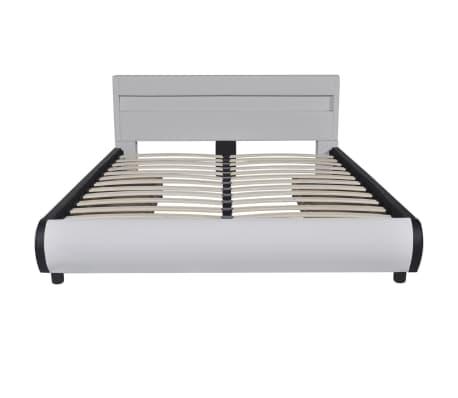 kunstlederbett mit led leiste am kopfteil 140 cm matratze g nstig kaufen. Black Bedroom Furniture Sets. Home Design Ideas