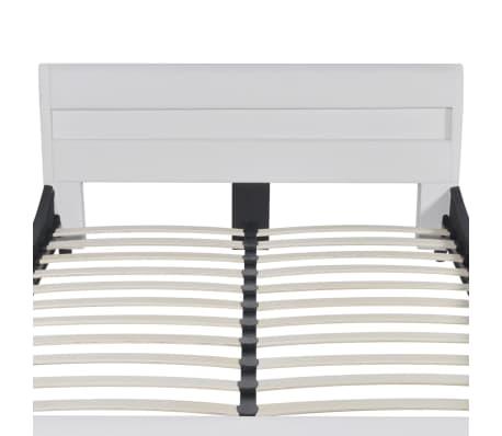 vidaXL Lova su čiuž. LED, baltos sp., 140x200cm, dirbtinė oda[4/12]