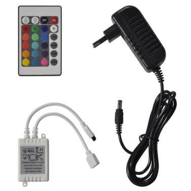 vidaXL Lova su čiuž. LED, baltos sp., 140x200cm, dirbtinė oda[7/12]