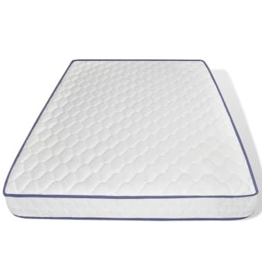 vidaXL Lova su čiuž. Memory LED, baltos sp., 140x200cm, dirbtinė oda[10/14]