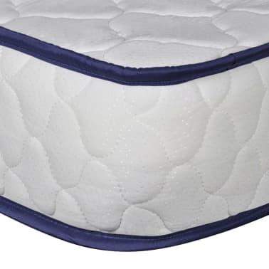 vidaXL Lova su čiuž. Memory LED, baltos sp., 140x200cm, dirbtinė oda[11/14]