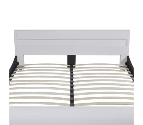 acheter vidaxl lit avec t te de lit et lumi re led 180 cm. Black Bedroom Furniture Sets. Home Design Ideas