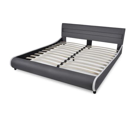 kunstlederbett 180cm mit led streifen am kopfteil matratze g nstig kaufen. Black Bedroom Furniture Sets. Home Design Ideas