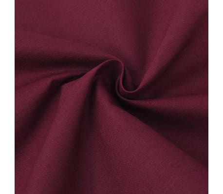 vidaXL Tecido de algodão 1,45 x 20 m Bordô