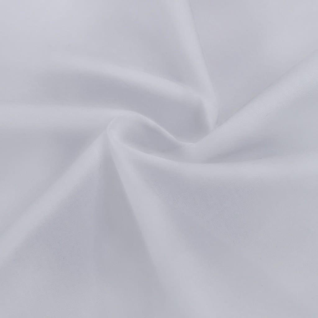 vidaXL Țesătură din bumbac 1.45x20 m, alb imagine vidaxl.ro