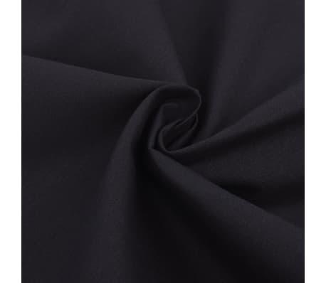 vidaXL 2-osainen Pussilakanasetti Puuvilla Musta 155x220/80x80cm[2/4]