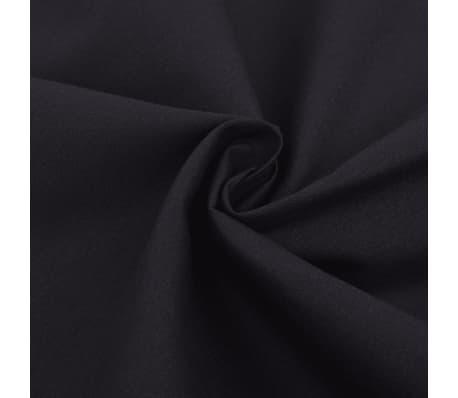 vidaXL Bäddset bomull svart 3 delar 240x220/80x80 cm[2/4]