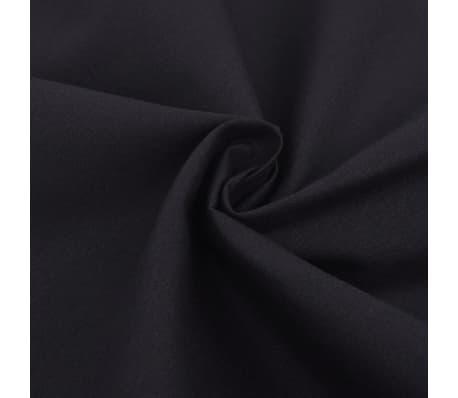 vidaXL Bäddset bomull svart 155x200/60x70 cm[2/4]