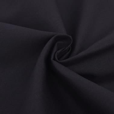 vidaXL Bäddset bomull svart 2 delar 155x200/60x70 cm[2/4]