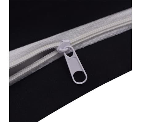 vidaxl 2 tlg bettw sche set baumwolle schwarz 155x220 60x70 cm g nstig kaufen. Black Bedroom Furniture Sets. Home Design Ideas