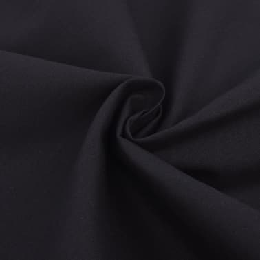 vidaXL Set huse pilotă bumbac, 155 x 220/60 x 70 cm, negru, 2 piese[2/4]