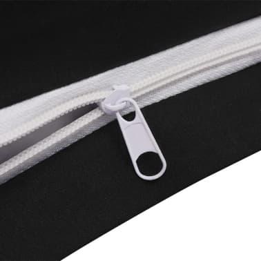 vidaxl 2 tlg bettw sche set baumwolle anthrazit 155x220 80x80 cm zum schn ppchenpreis. Black Bedroom Furniture Sets. Home Design Ideas