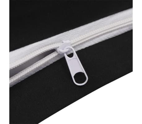 vidaxl 3 tlg bettw sche set baumwolle anthrazit 200x200 80x80 cm zum schn ppchenpreis. Black Bedroom Furniture Sets. Home Design Ideas