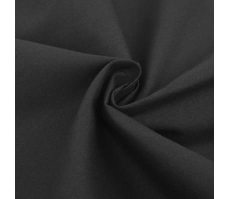 vidaXL 2-tlg. Bettwäsche-Set Baumwolle Anthrazit 155x200/60x70 cm[2/4]