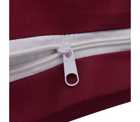acheter vidaxl 2 pi ces housse de couette en coton bordeaux 155x220 80x80 cm pas cher. Black Bedroom Furniture Sets. Home Design Ideas