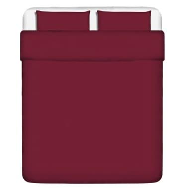 vidaxl 3 tlg bettw sche set baumwolle burgunderrot 200x200 80x80 cm g nstig kaufen. Black Bedroom Furniture Sets. Home Design Ideas