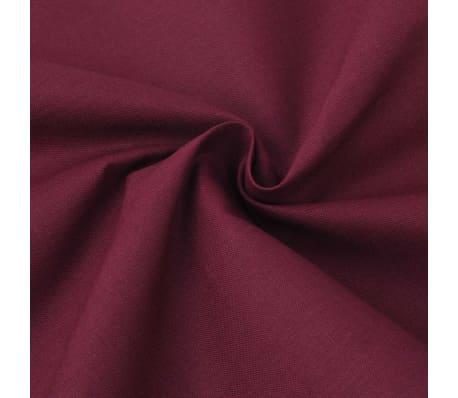 acheter vidaxl 3 pi ces housse de couette en coton bordeaux 200x220 80x80 cm pas cher. Black Bedroom Furniture Sets. Home Design Ideas