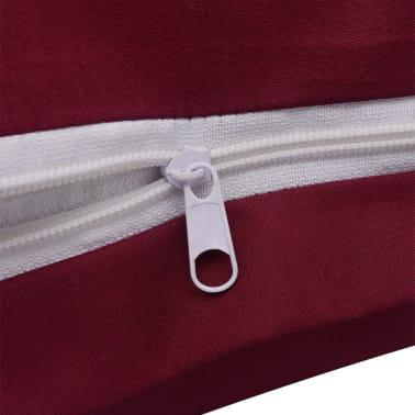 vidaxl 2 tlg bettw sche set baumwolle burgunderrot 155x200 60x70 cm zum schn ppchenpreis. Black Bedroom Furniture Sets. Home Design Ideas