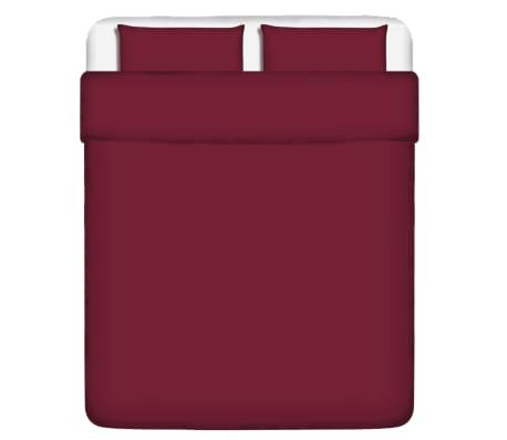 vidaxl 3 tlg bettw sche set baumwolle burgunderrot 200x200 60x70 cm g nstig kaufen. Black Bedroom Furniture Sets. Home Design Ideas