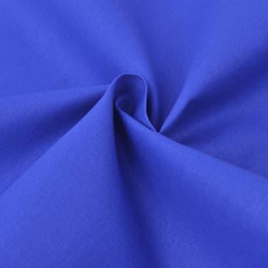 vidaXL set funda edredón 2 piezas algodón color azul 155x220/80x80 cm[2/4]