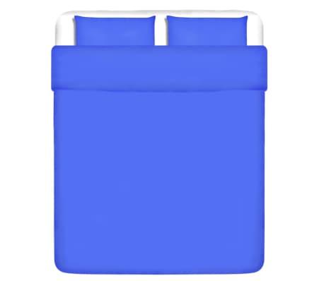 vidaXL Set husă pilotă, albastru, bumbac, 200 x 220/80 x 80 cm