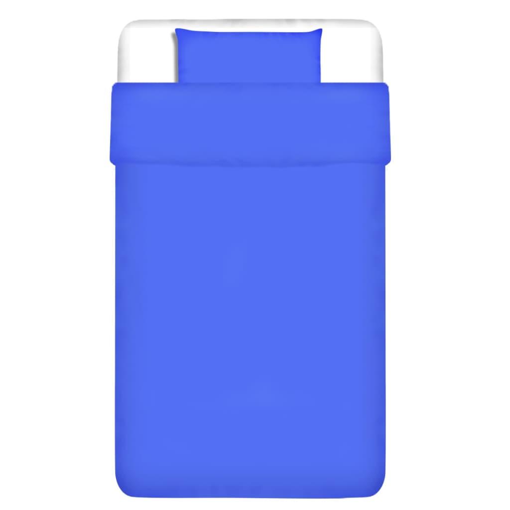 vidaXL Dvojdílná bavlněná sada povlečení modrá 155x200/60x70 cm