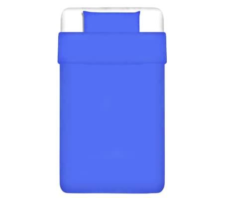 vidaXL Duvet Cover Set Cotton Blue 155x200/60x70 cm