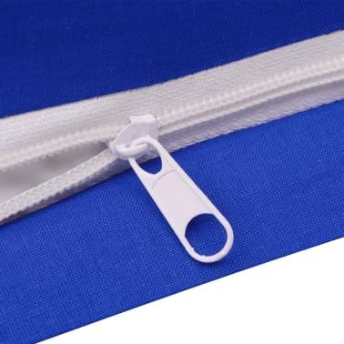 vidaxl 2 tlg bettw sche set baumwolle blau 155x200 60x70 cm g nstig kaufen. Black Bedroom Furniture Sets. Home Design Ideas