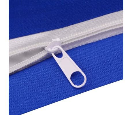 vidaXL 3-tlg. Bettwäsche-Set Baumwolle Blau 200x200/60x70 cm[3/4]