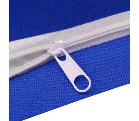 vidaXL set funda edredón 3 piezas algodón color azul 200x200/60x70 cm[3/4]