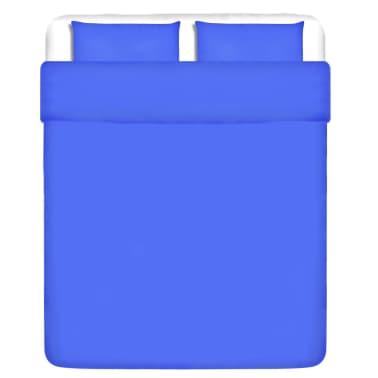 vidaXL patalynės komplektas, mėlynas, medvilnė 240x220/60x70 cm[1/4]
