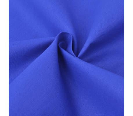 vidaXL patalynės komplektas, mėlynas, medvilnė 240x220/60x70 cm[2/4]