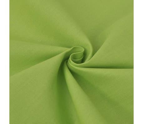 vidaXL Bäddset bomull 2 delar 135x200/80x80 cm grön[2/4]