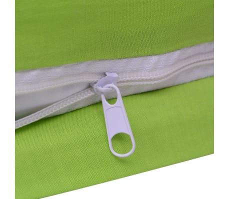 vidaXL Bäddset bomull 2 delar 135x200/80x80 cm grön[4/4]