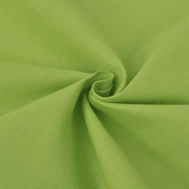 vidaXL 2 d. patalynės komplektas, žalias, medvilnė 155x200/80x80 cm[2/4]