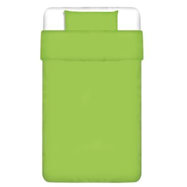 vidaXL dekbedovertrek tweedelig katoen groen 155 x 200/60 x 70 cm[1/4]