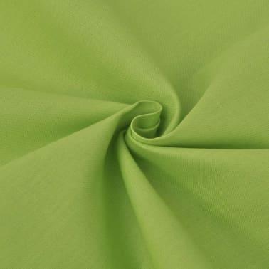 vidaXL 2 pièces housse de couette en coton Vert 155x200/60x70 cm[2/4]