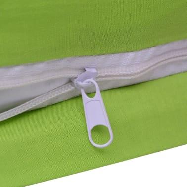 vidaXL 2 pièces housse de couette en coton Vert 155x200/60x70 cm[4/4]