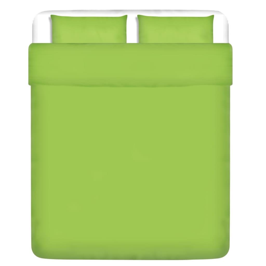 vidaXL Třídílná bavlněná sada povlečení zelená 200x200/60x70 cm