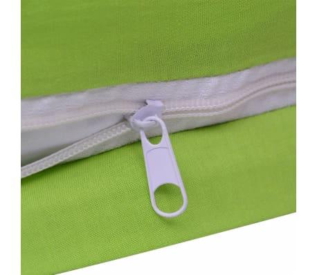 vidaxl 3 tlg bettw sche set baumwolle gr n 200x200 60x70 cm g nstig kaufen. Black Bedroom Furniture Sets. Home Design Ideas