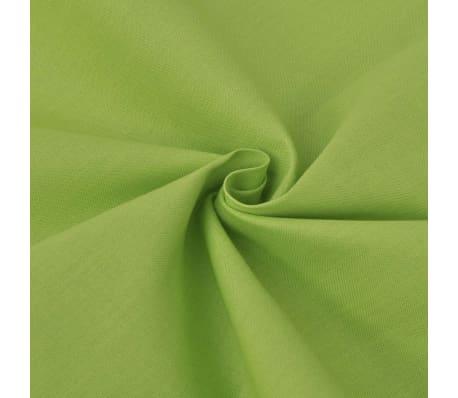 acheter vidaxl trois pi ces housse de couette en coton vert 200x220 60x70 cm pas cher. Black Bedroom Furniture Sets. Home Design Ideas