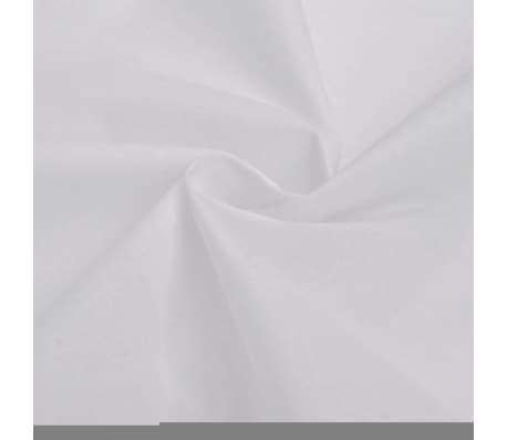 vidaXL 2-tlg. Bettwäsche-Set Baumwolle Weiß 155x200/80x80 cm[2/4]